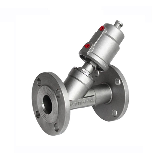 Pneumatic Flanged Angle Seat Valve 1
